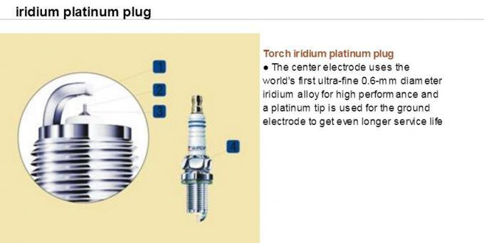 Platinum iridium M12x1 25 Auto Spark Plugs for NGK IKR6G